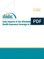 Early Impacts of the Affordable Care Act on Health Insurance Coverage in Minnesota