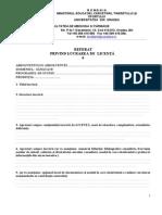 Formular Referat Privind Lucrarea de Licenta