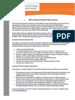 IIBA Academic Membership Info-Sheet 2013