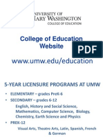 College of Education Presentation 2014