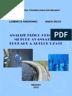 Analize Fizico-chimice Si Metode Avansate de Epurare a Apelor Uzate