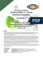 RoboSub Mission Final 2014 Draft