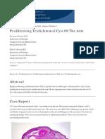 Proliferating Trichilemmal Cyst of the Arm. The Internet Journal of Dermatology 2006