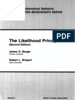 Berger the Likelihho Principle 1988 Book
