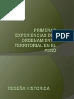 Primeras Experiencias Del Ordenamiento Territorial en El Perú