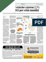 Remesas Del Exterior Cayeron 2.2% El 2013_Gestión 11-06-2014