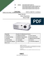 Service Manual NP215s NP216