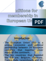 Conditions for Membership in European Union
