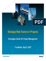 Strategic Risk Factors in Projects