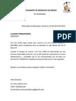 Carta de Recomendacion.