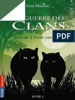 La guerre des Clans, Livre 1 -  - Hunter Erin.pdf