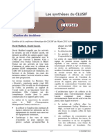 CLUSIF 2011 Gestion Des Incidents Synthese
