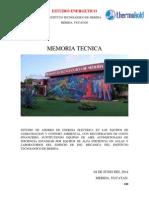 Memoria Tecnica Ing. Mecanica