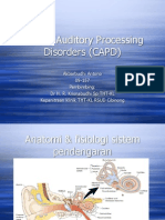 APD auditory processing disorder
