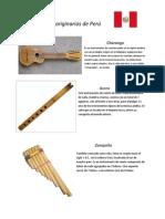 Instrumentos Originarios de Perú