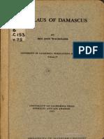 Wacholder, Ben Zion. Nicolaus of Damascus, 1962