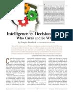 Intelligence Vs. Decisionmaker