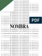 Nombra La Representacion Del Femenino y El Masculino en El Lenguaje