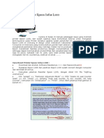 Cara Reset Printer Epson Infus L100