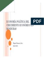 Economia Politica Crecimiento en Honduras