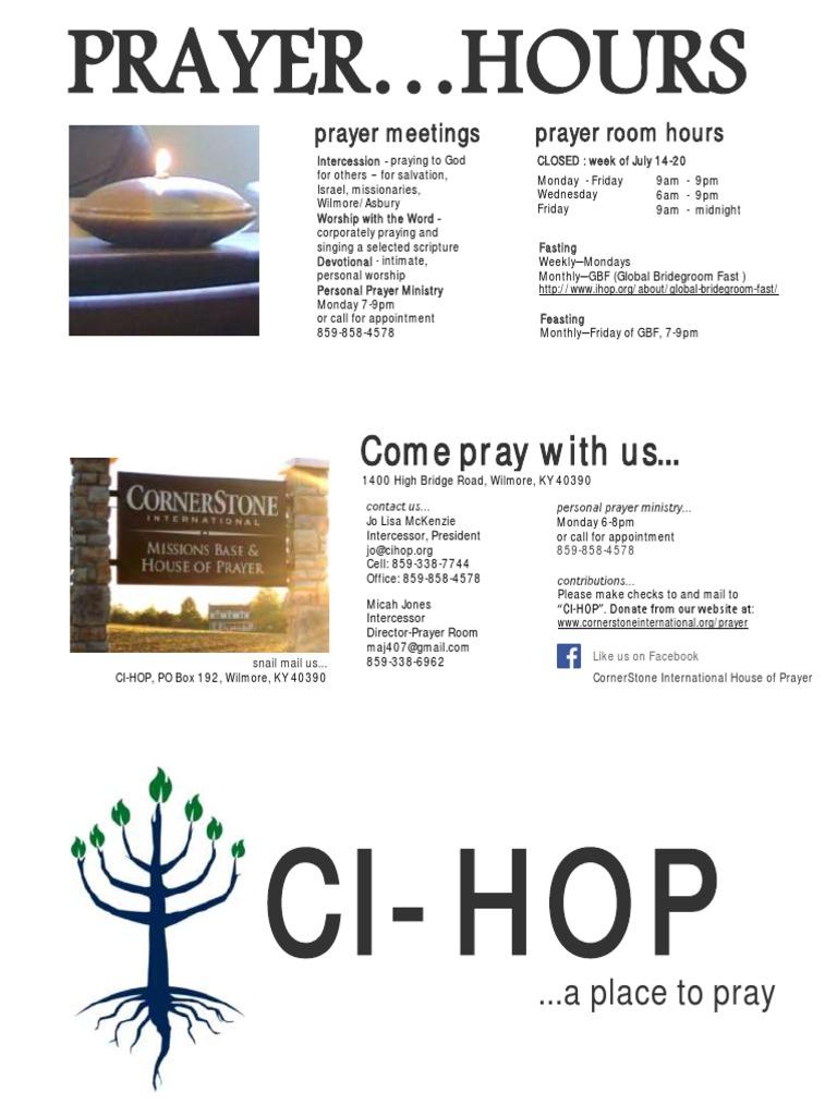 Cihop Brochure | Intercession | Prayer