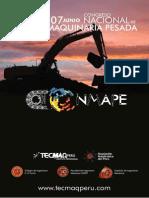 Brochure I Congreso de Maquinaria Pesada 2014