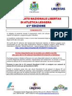 comunicato e orario campionati nazionali libertas atletica 2014