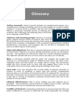 Small-scale evaluation in health. Cap.14. Glossary