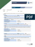 TSS - Notas de Release 2.22 - P11 - BRASIL
