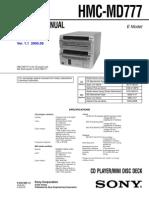 Sony Hmc Md777