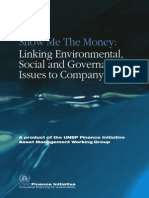 Linking Environmental, Social and Governance Issues to Company Value UNEPfi