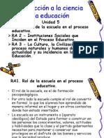 Diapositiva de Educacion Unidad 5