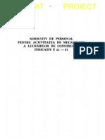U 11 - 1987 Personal Ptr Activ de Mec in Constr