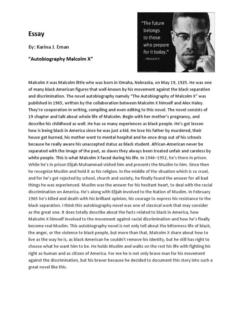 Essays on malcolm x