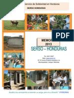 Memoria 2013 - SERSO Honduras