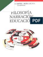 ARPINI, A. LICATA, R. Filosofia, Narracion, Educacion