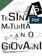 Tesina Maturità TRANO GIOVANNI 5°A ELET. ITIS A.PACINOTTI FONDI (LT) A.S. 2013/2014