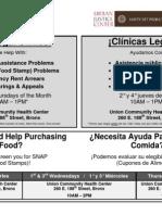 Union 188 Clinic Schedule (Bilingual)