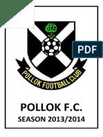 Pollok F.C. 2013/2014