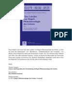 Eine Lekture Von Hegels Phanomenologie Des Geistes Info-libre (1)