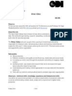 Team Recruitment Roleprofile Writereditoradvert