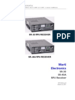 SR 30 SR 40A RPU Receiver Manual