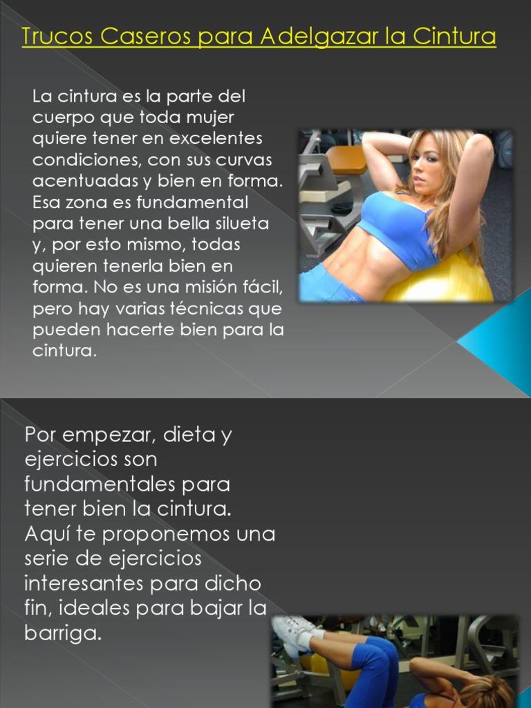 Dieta para adelgazar abdomen y cintura