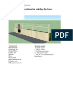 Fence Instructions
