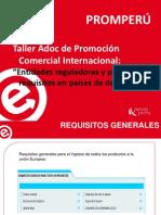 2014-Entidades Reguladoras y Principales Requisitos en Países de Destino
