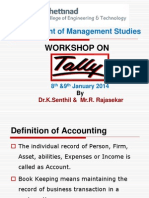 Workshop on TALLY- 8th Jan2014
