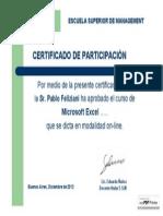 Certificado de Participación Pablofeliziani
