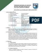 Syllabus de La Asignatura Alcantarillado 2014-i