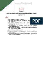 Shallow Foundations Allowable Bearing Capacity & Settlement