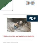 Yeso y Cal Como Adiciones en El Cemento
